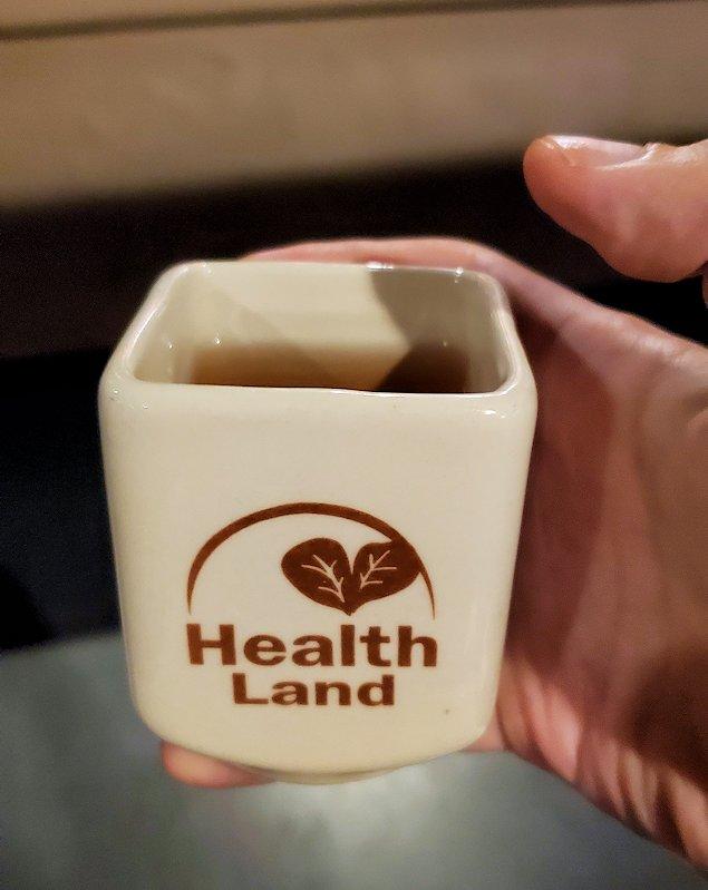スクムウィット駅周辺にあるヘルスランドの施術後にくれた温かいお茶
