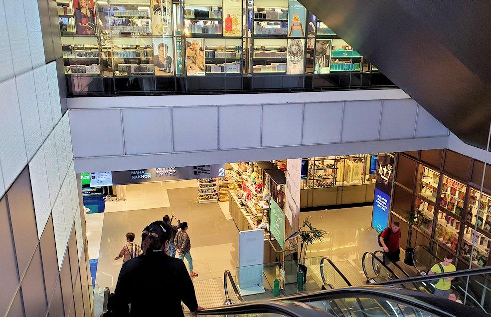 キングパワー・マハナコーンビルの展望台から降りた4階からショッピング街から更に降りる