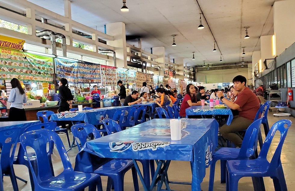 バンコク市内にある賑わうフードコートの様子