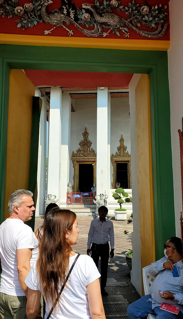 バンコク市内のワットポーの入口