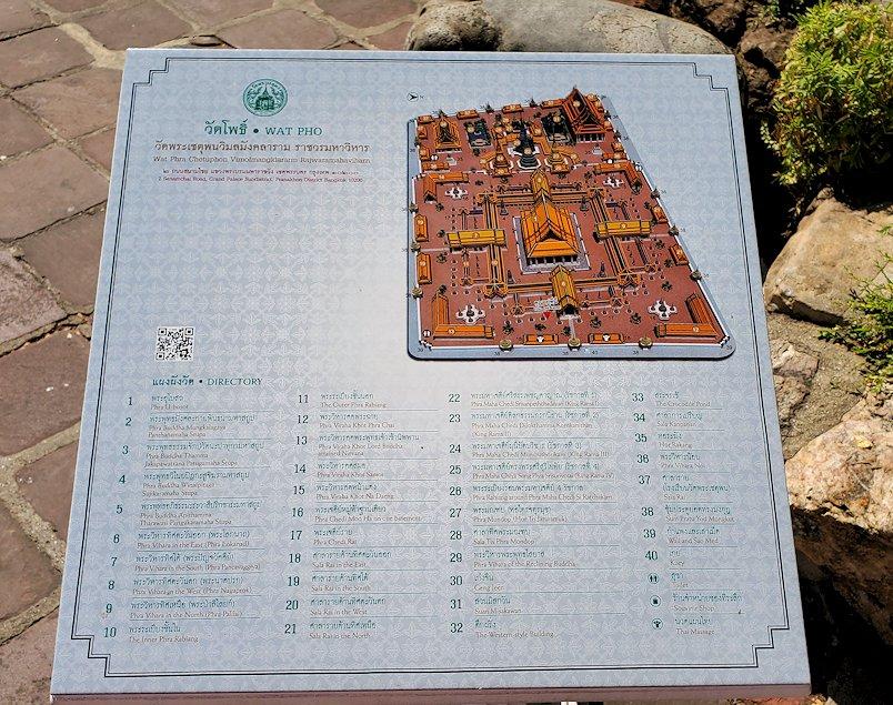 ワット・ポー敷地内の地図