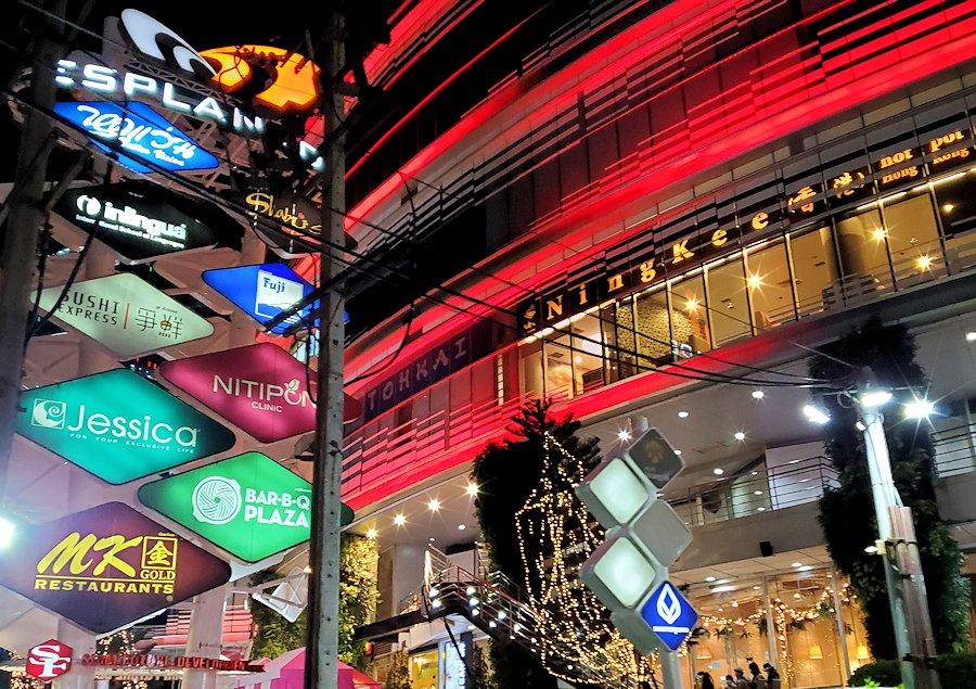 バンコク市内のラチャダー鉄道市場前にある大きなショッピングセンター