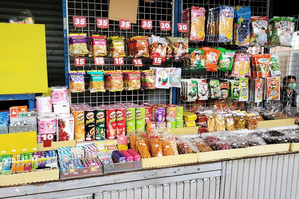 「エカマイ・バンコク東バスターミナル」内の売店の様子