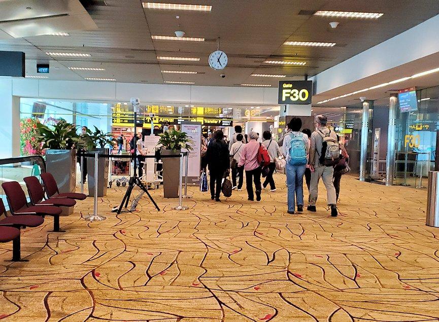 シンガポール航空機で到着した、シンガポールのチャンギ空港-3