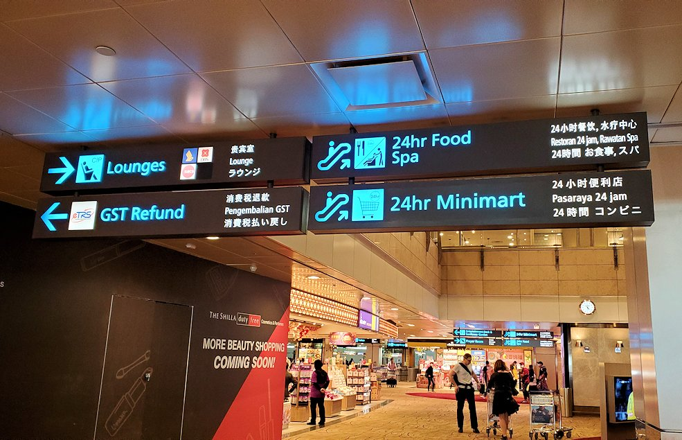 シンガポール航空機で到着した、シンガポールのチャンギ空港-2