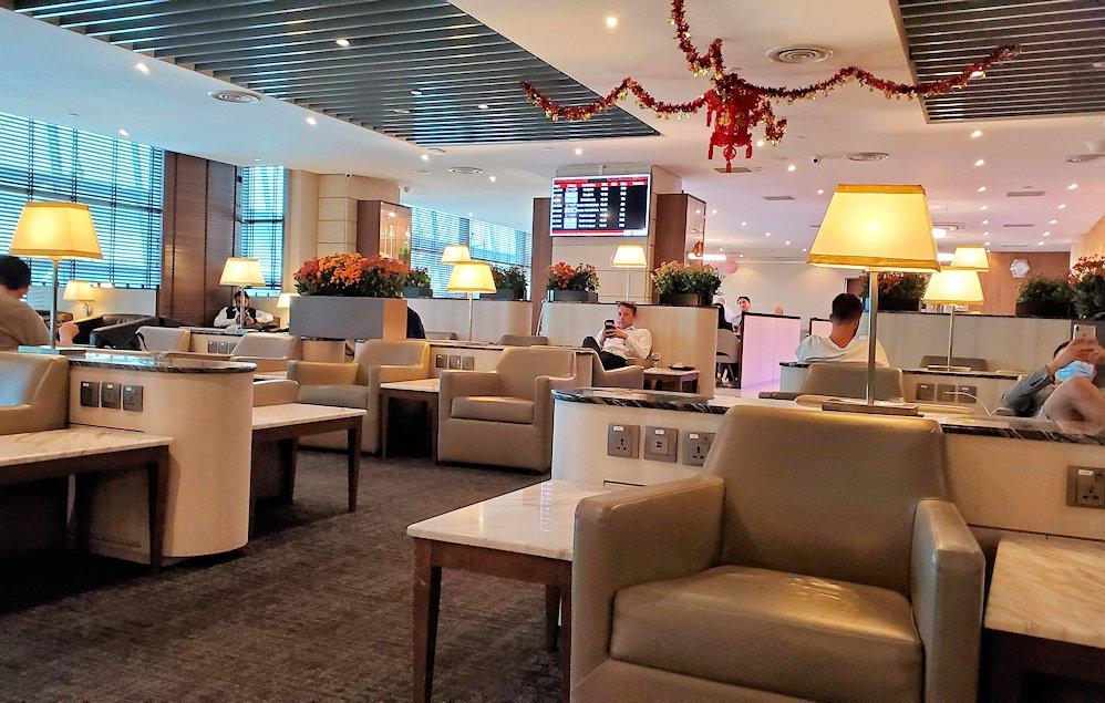 シンガポールのチャンギ空港内にあるラウンジ「SATS Premier Lounge」の雰囲気