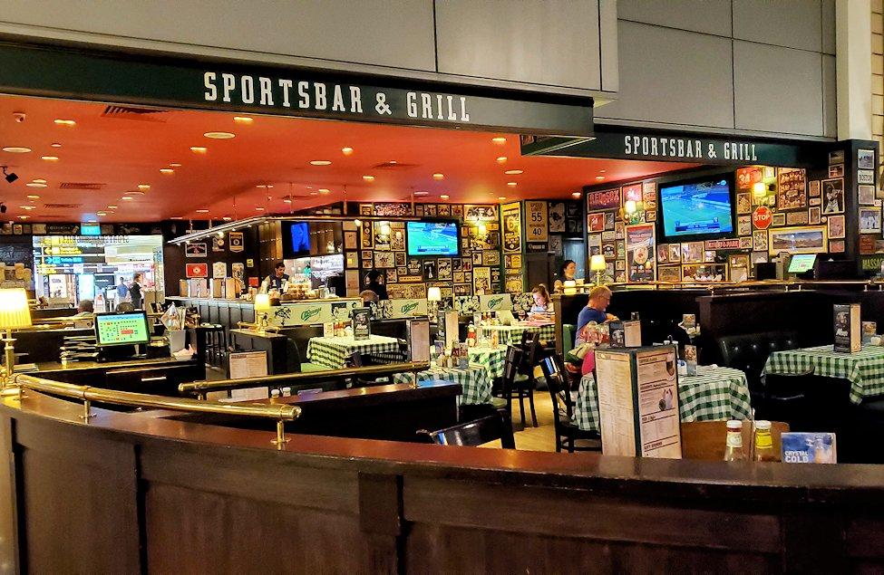 チャンギ空港内のレストラン