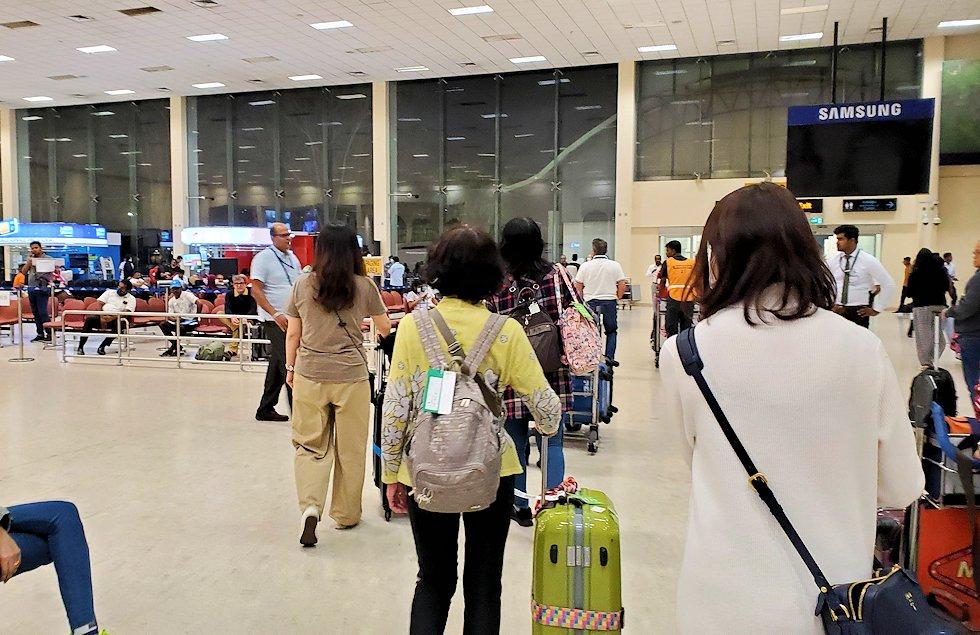 スリランカのコロンボ空港内の様子