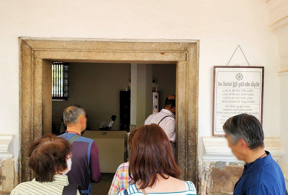 祀られているスリー・マハー菩提樹を祀る仏堂