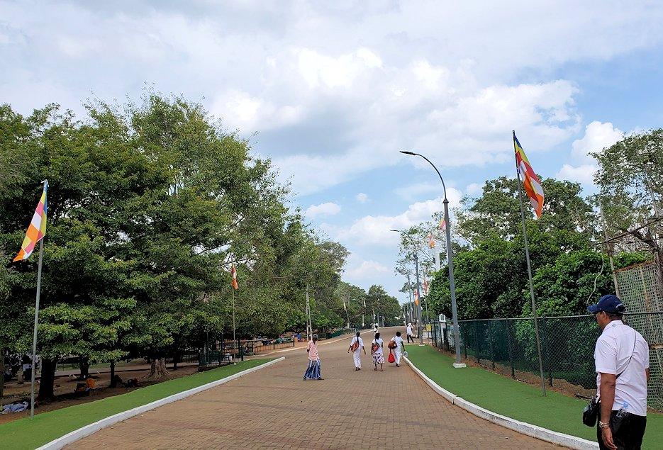 アヌラーダプラでルワンウェリ・サーヤ大塔に続く道