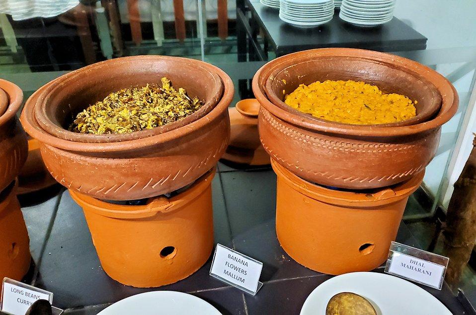 「カサッパ ライオンズ ロック」ホテルの夕食会場に置かれていたスリランカ・カレー-2