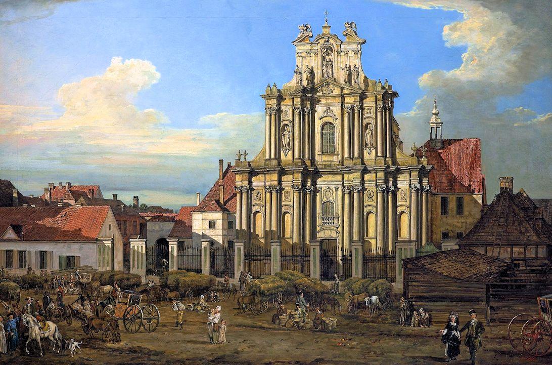 ベルナルド・ベロットが描いたヴィジトキ教会