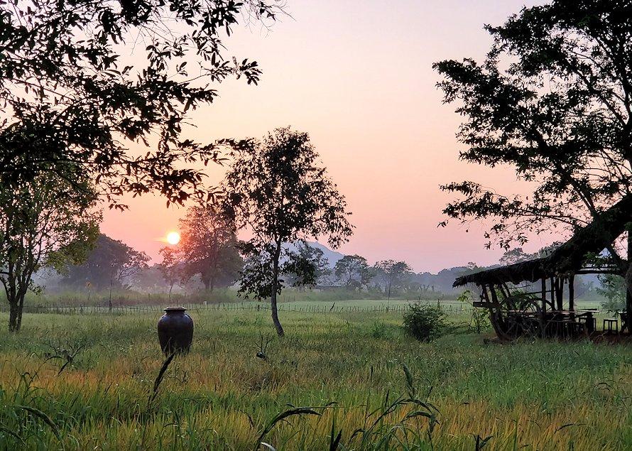 スリランカのシギリヤで迎える朝