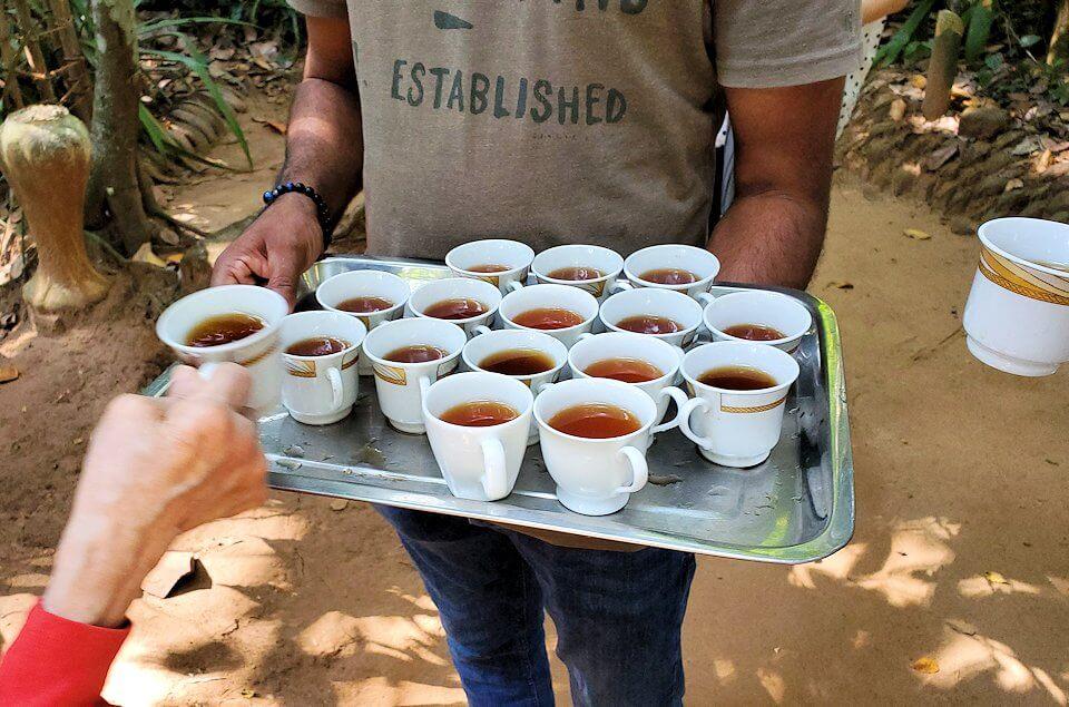 「Luck Grove Spice Garden」で休憩のお茶が出てくる