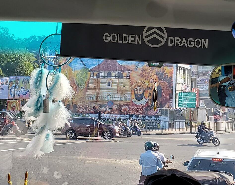 キャンディの街へと向かうバス車内から見えた景色-3
