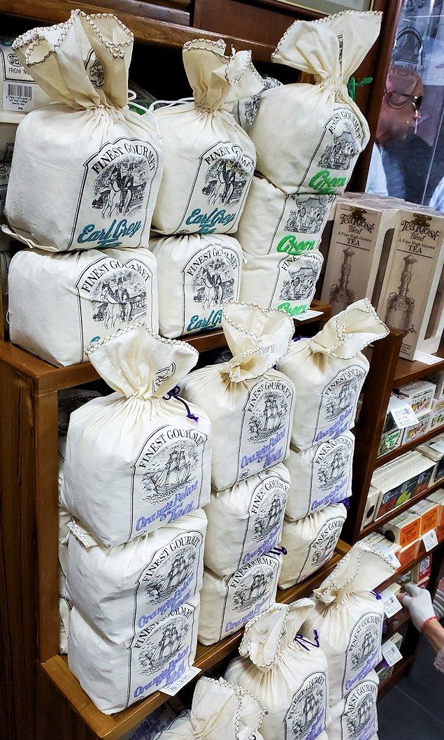 「ムレスナ・ティー」内のお店に置かれていた紅茶の商品