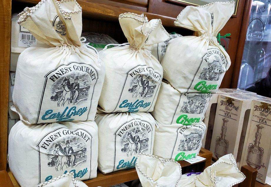 「ムレスナ・ティー」内のお店に置かれていた紅茶の商品-2