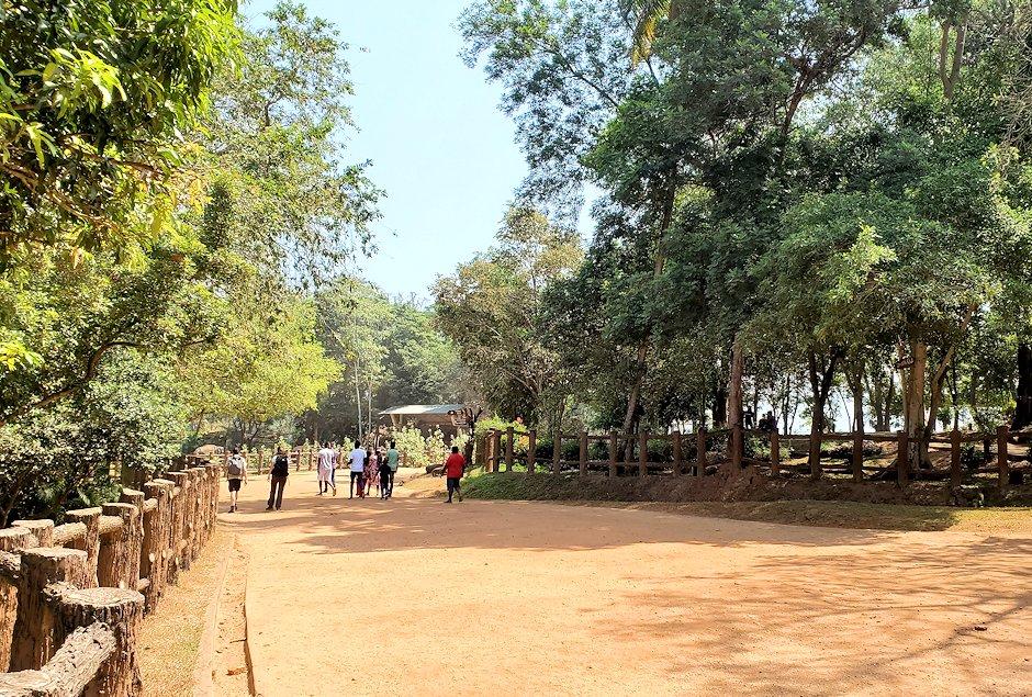 ピンナワラの「ゾウの孤児院」の敷地内を進む