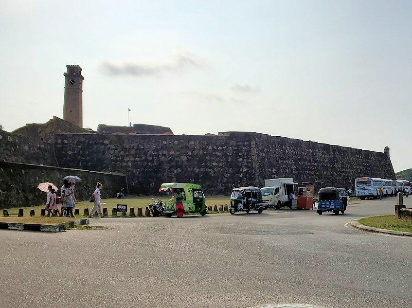スリランカ:ゴールの旧市街地を囲む要塞跡