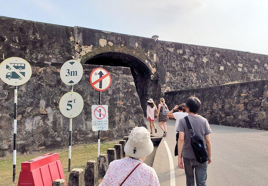 スリランカ:ゴールの旧市街地を囲む要塞跡に到着