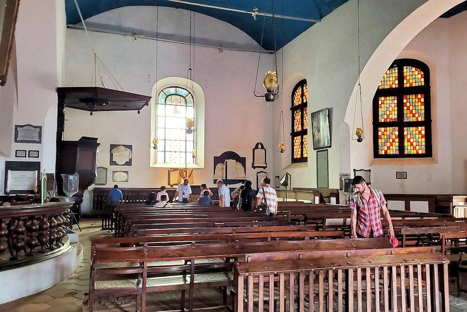 スリランカ:ゴールの旧市街地にあるオランダ教会内の景色