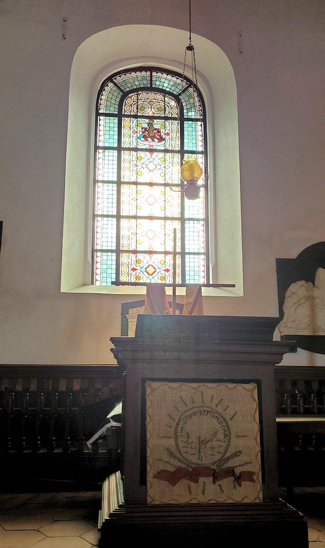 スリランカ:ゴールの旧市街地にあるオランダ教会内の祭壇