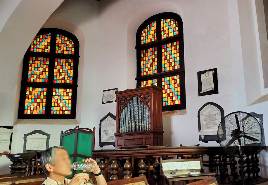 スリランカ:ゴールの旧市街地にあるオランダ教会内の景色-3