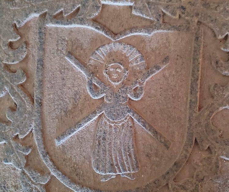 スリランカ:ゴールの旧市街地にあるオランダ教会にある髑髏マーク