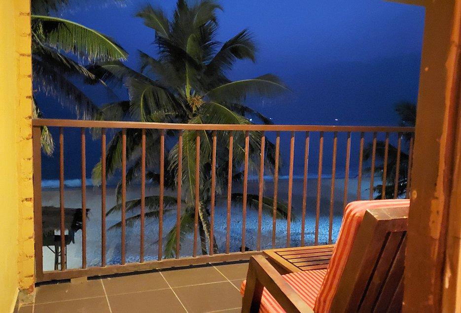 ゴールの街にある【ホテル】ザ・ロング・ビーチ・リゾートの部屋から眺めるインド洋