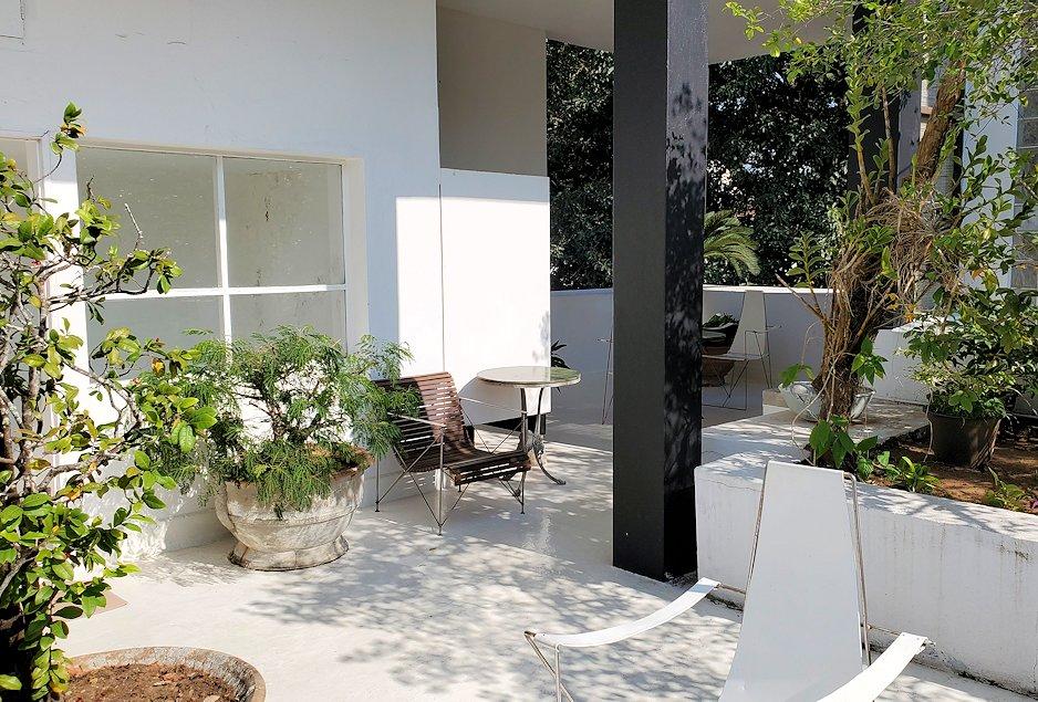 コロンボ市内にあるジェフリー・バワの自宅跡のベランダの景色