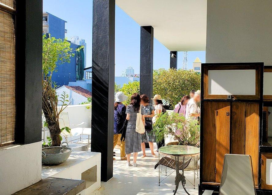 ジェフリー・バワの自宅跡のベランダ部分