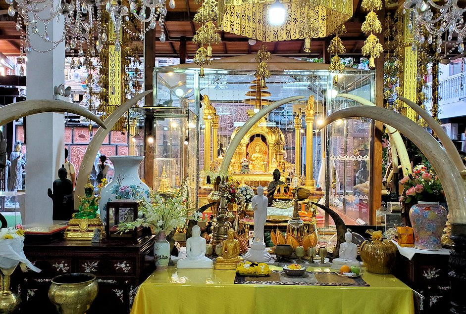 ガンガラーマ寺院敷地内にある博物館の様子
