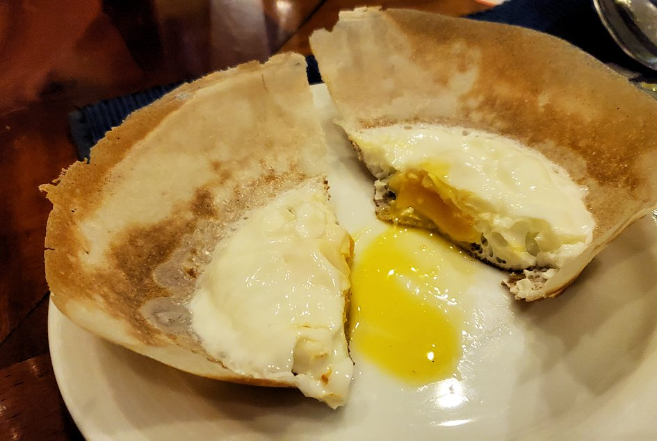 レストランで調理してくれた「ピッタラ・アーッパ」という食べ物-2