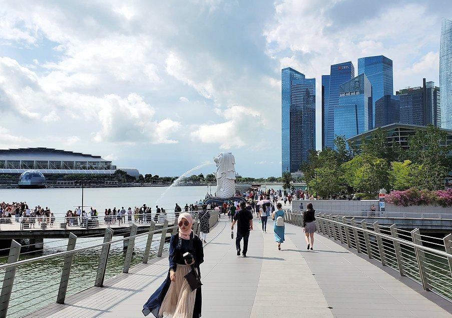 シンガポールのマリーナベイサンズ周辺に見える高層ビルディング群