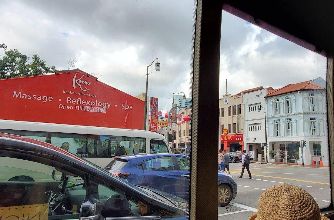 シンガポール市内を観光するバスからの景色