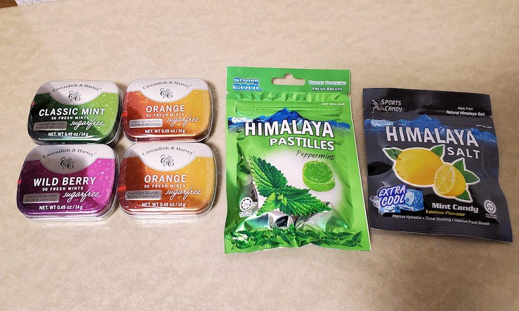 チャンギ空港でバウチャーで購入したお菓子
