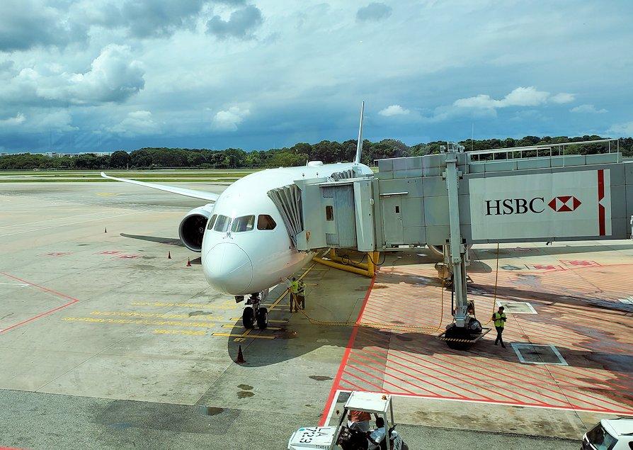 チャンギ空港でこれから乗る飛行機-2