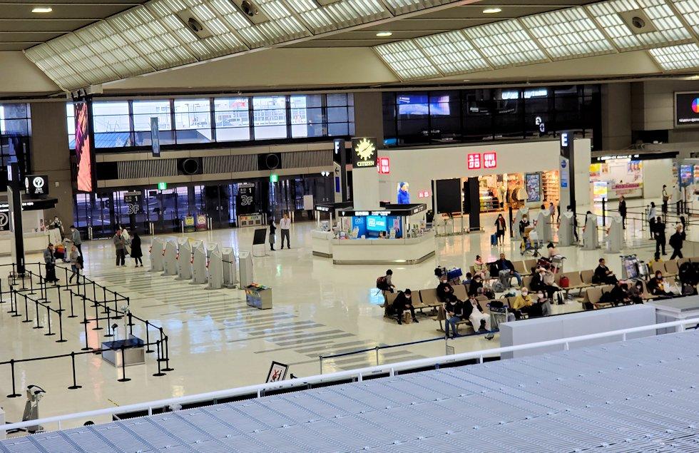 2020年3月のガラガラに空いている、成田国際空港