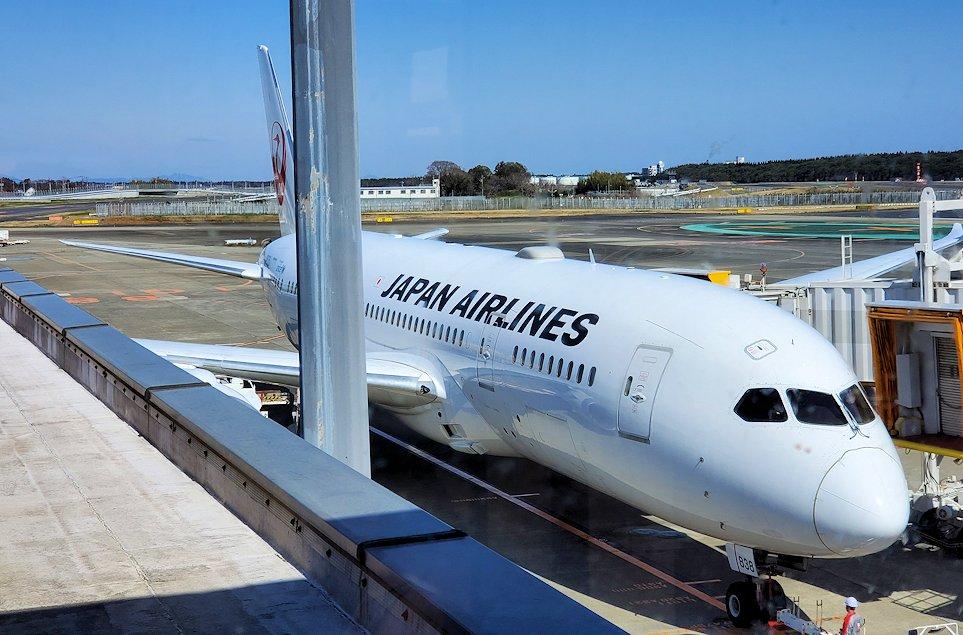 成田国際空港内のJALの飛行機-2