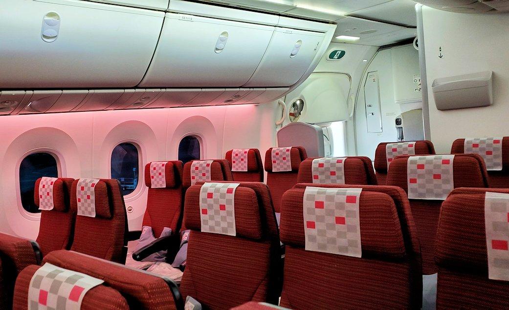 成田からモスクワへ向かうJAL国際線機内の景色-2