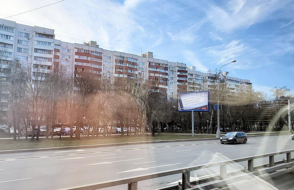 ドモジェドヴォ空港からモスクワ市内へ向かうバスからの景色-2