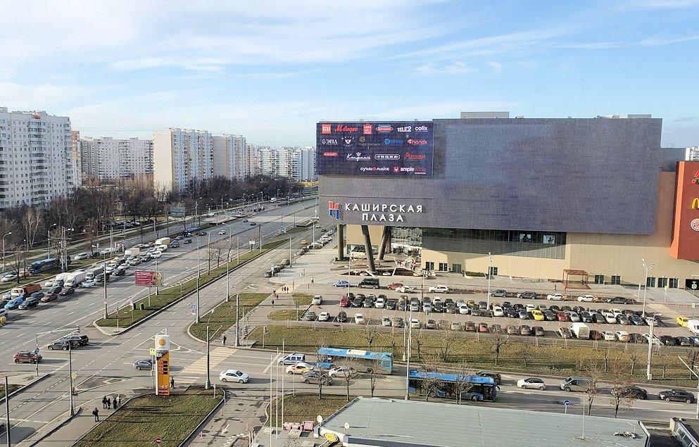 モスクワにある「ミランホテル」の部屋内から見える景色