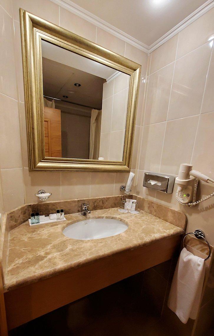モスクワにある「ミランホテル」の部屋内の洗面所2
