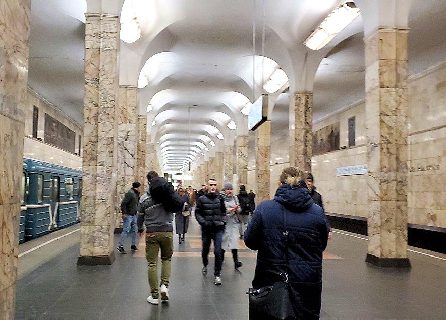 モスクワ市内地下鉄の構内