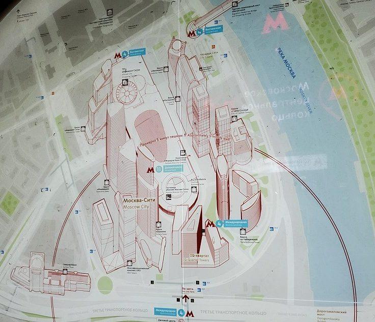 モスクワシティー駅周辺の地図