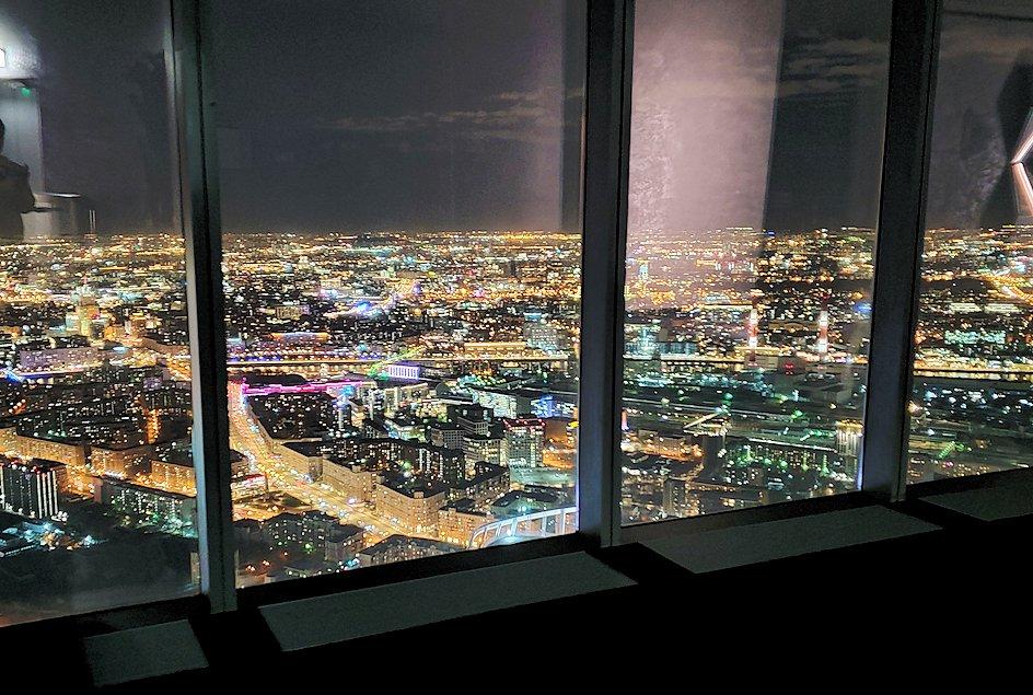 フェデレーションタワーの展望台から見える夜景