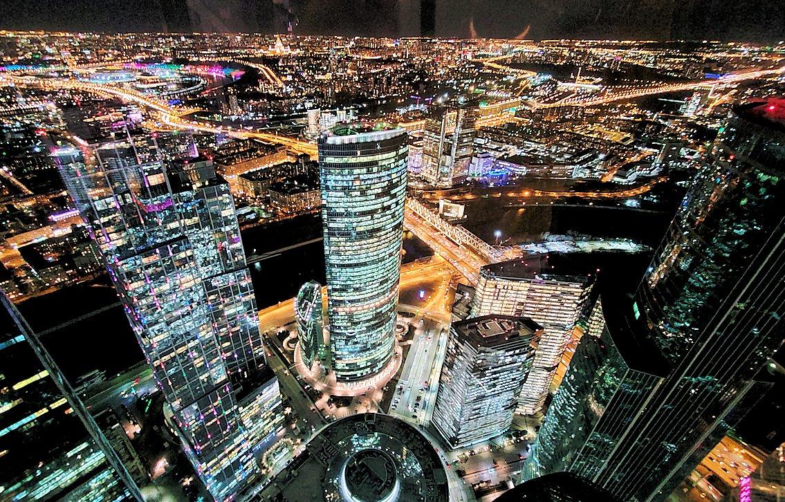 フェデレーションタワーから眺める、モスクワ市内の夜景