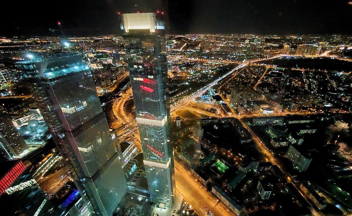 フェデレーションタワーの展望台からモスクワ市内の夜景を一望-2