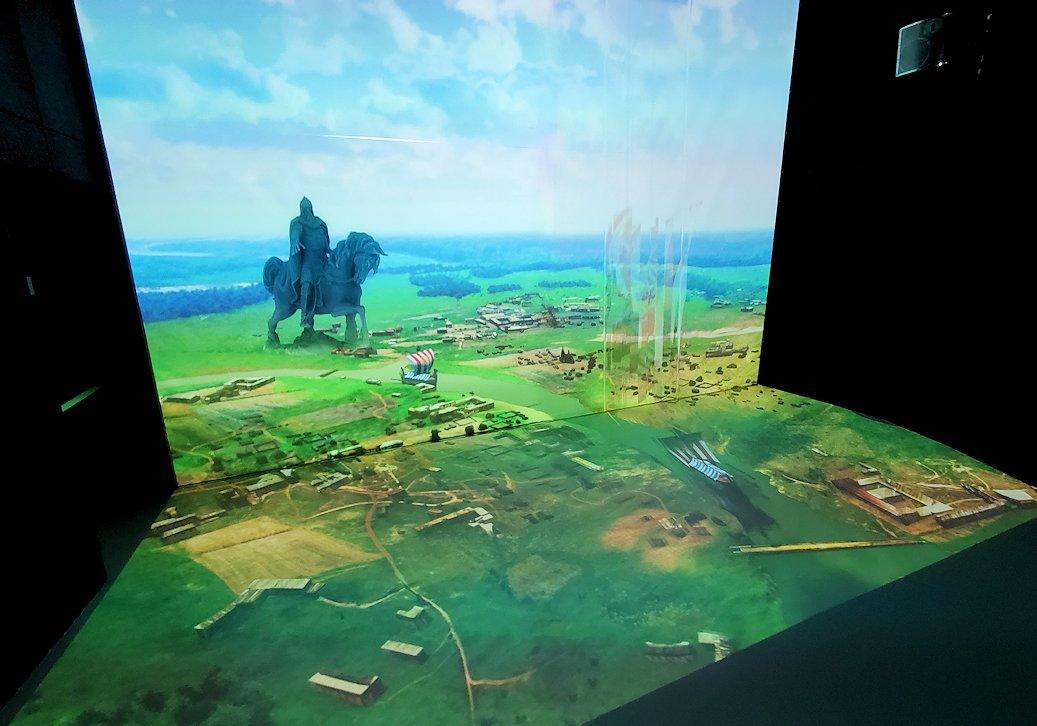 フェデレーションタワーの展望台にあるアニメーションルームの景色