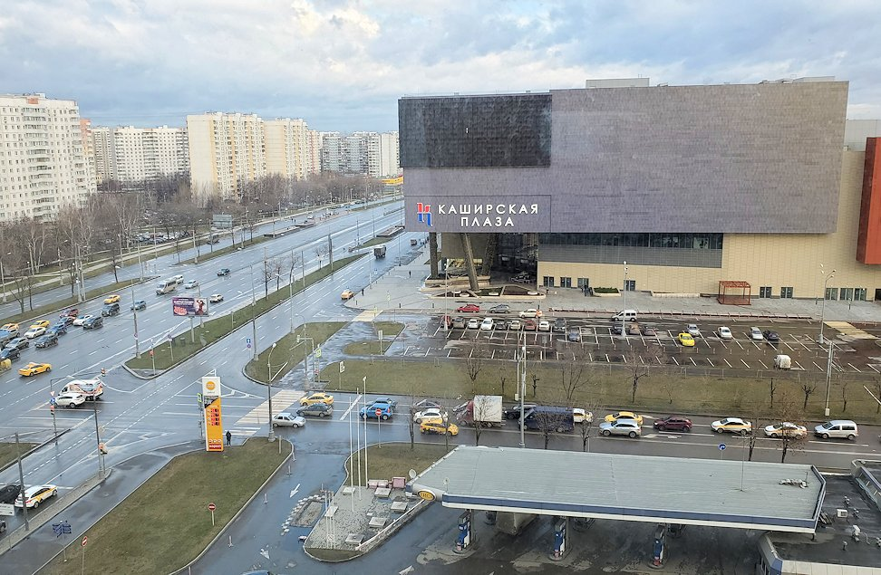 モスクワ市内のミラノホテルから見えた景色